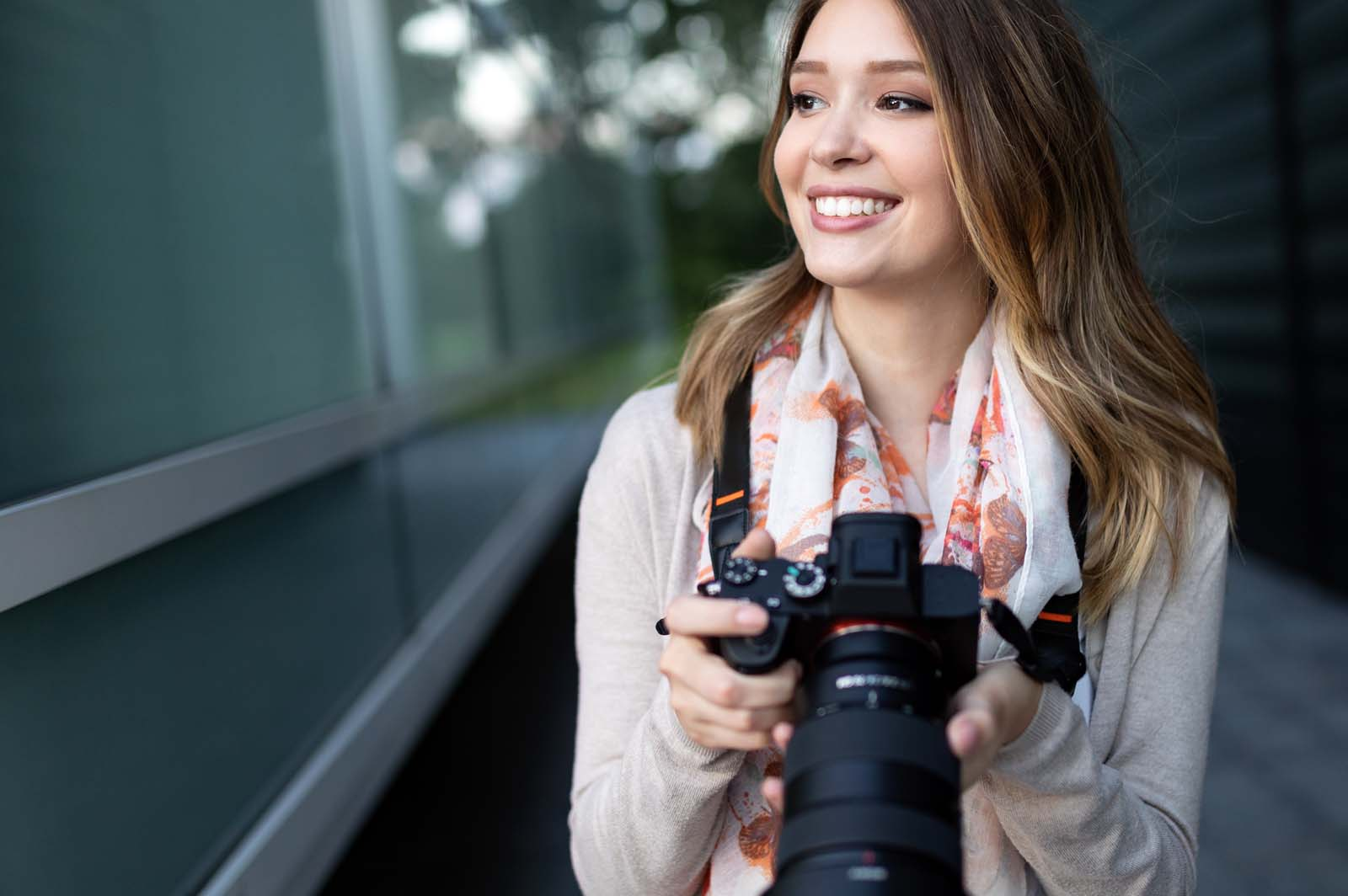 freelance photographer woman smiling