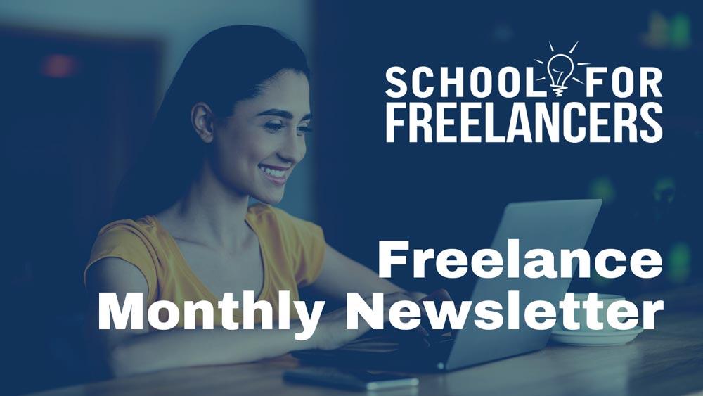 Freelance monthly newsletter